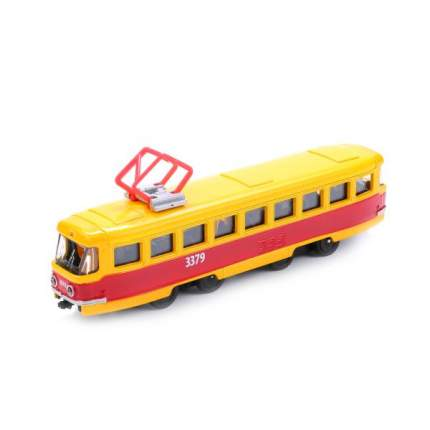 Трамвай Технопарк металлический инерционный, 16,5 см