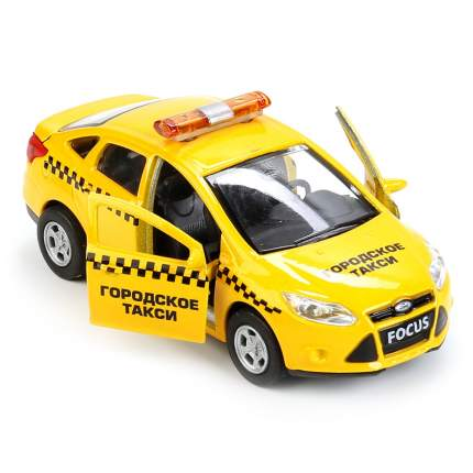 Машина металлическая инерционная Технопарк Форд Фокус Такси, 12 см