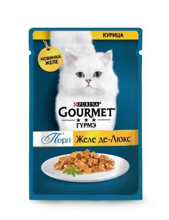 Влажный корм для кошек Gourmet Perle Желе Де-Люкс с курицей в роскошном желе, 75г