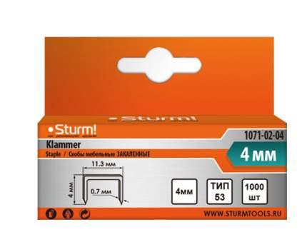 Скобы для степлера Sturm! 1071-02-04