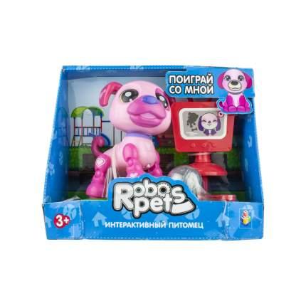Интерактивное животное 1TOY Озорной щенок, розовый