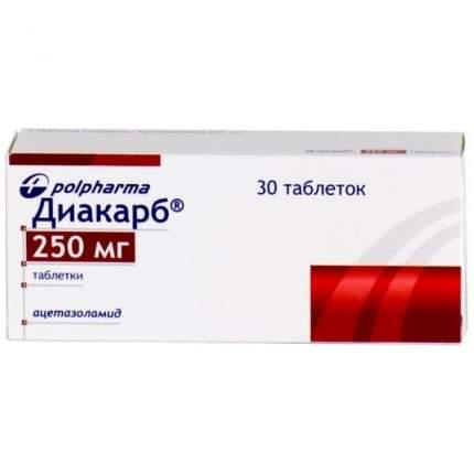 Диакарб 250 мг 30 шт. таб.