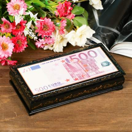Шкатулка - купюрница «500 EURO», 8,5х17см, Sima-Land 323292