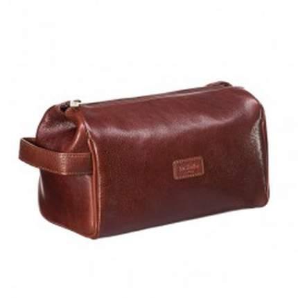 Объемный коричневый несессер для деловых мужчин Dr.Koffer B275250-02-05