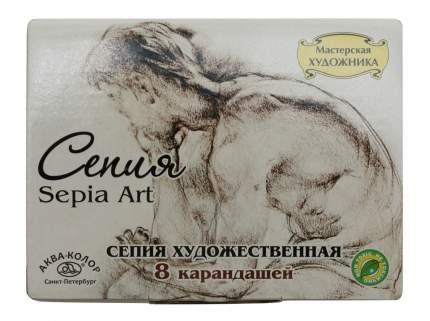 Сепия Аква-Колор Мастерская художника светлая/темная 4 цвета