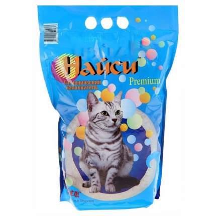 Впитывающий наполнитель для кошек Найси силикагелевый, 2.1 кг, 4.5 л