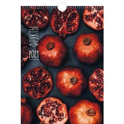 Календарь настенный на 2021 год Listoff Фрукты и ягоды (евроспираль с ригелем)