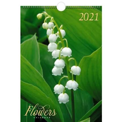 Календарь настенный на 2021 год Listoff Цветы (евроспираль с ригелем)