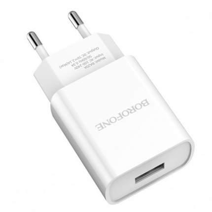 Сетевое зарядное устройство Borofone BA20A, 1xUSB, 2,1 A, white