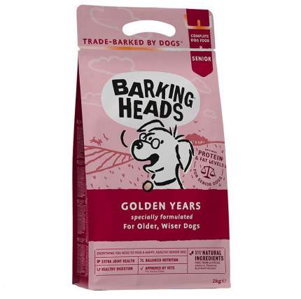 Сухой корм для собак Barking Heads Golden Years, для пожилых, курица, рис, 2кг