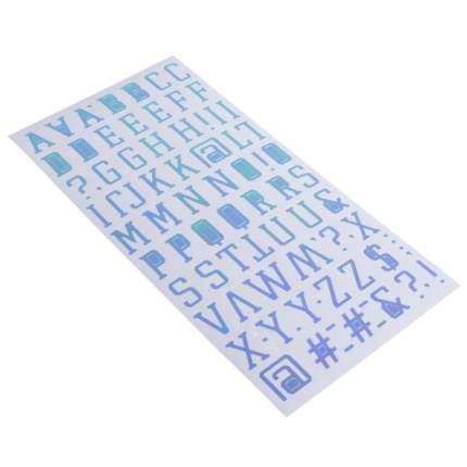 """Стикеры-алфавит Sticko """"Light Blue"""" 85 шт Sima-Land"""