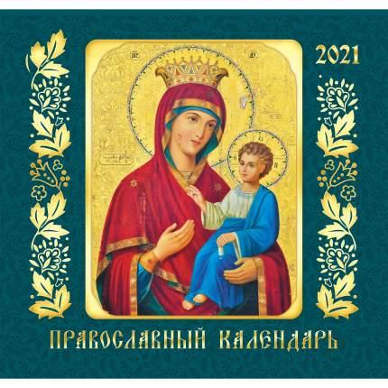 Календарь настенный на 2021 год Listoff Православные иконы, 12 листов (скрепка)