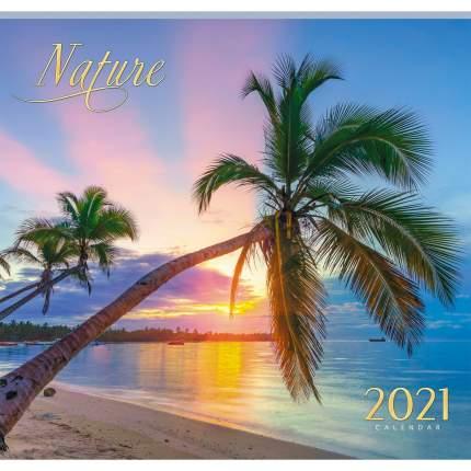 Календарь настенный на 2021 год Listoff Природа, 12 листов (скрепка)