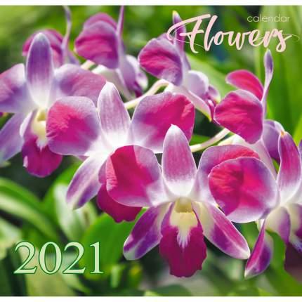 Календарь настенный на 2021 год Listoff Цветы, 6 листов (скрепка)