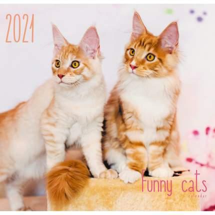 Календарь настенный на 2021 год Listoff Домашние любимцы, 6 листов (скрепка)