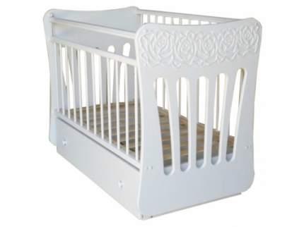 Кроватка детская Островок уюта Розали с маятником поперечного качания, белый