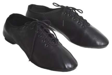Джазовки низкие, кожаные, длина по стельке 21,5 см, цвет чёрный Sima-Land