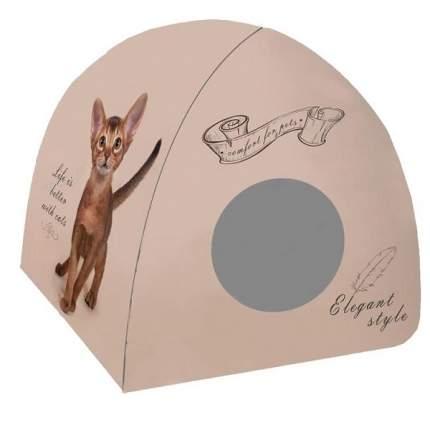 Домик для кошек PerseiLine Дизайн Вингвам Котенок винтаж, разноцветный, 40x40x39см