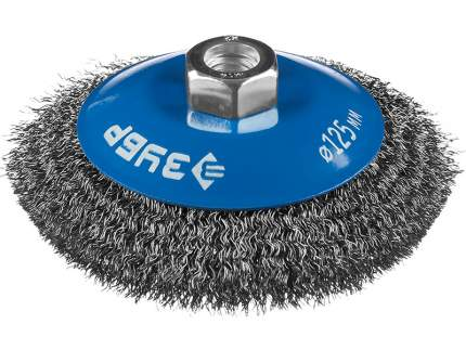 Кордщетка ЗУБР тарелка 125мм для УШМ гофрированная сталь (35265-125_z02)