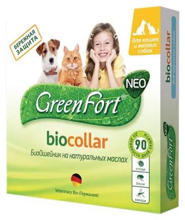 Ошейник для кошек и мелких собак против блох, клещей GreenFort NEO зеленый, 40 см
