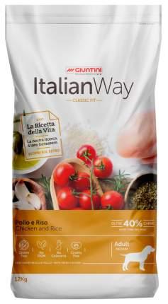 Сухой корм для собак Italian Way Adult Medium, безглютеновый, с курицей и рисом, 12кг