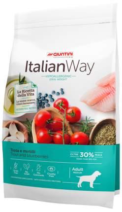 Сухой корм для собак Italian Way Adult Medium Hypoallergenic Ideal Weight, форель, 12кг