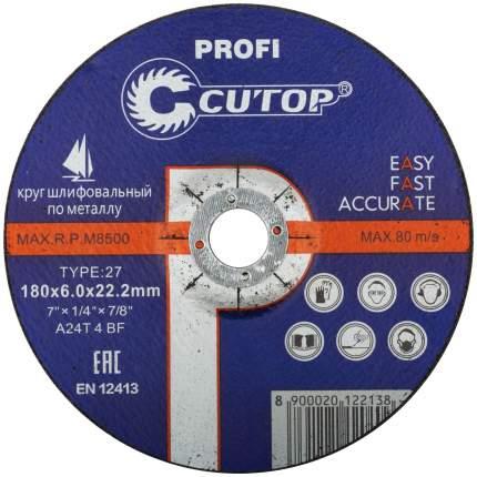 Профессиональный диск шлифовальный по металлу T27-180 x 6,0 x 22,2 40006т
