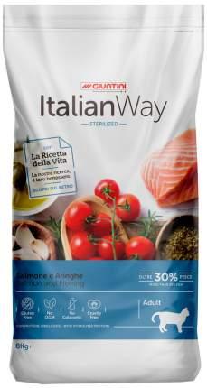 Сухой корм для кошек Italian Way Adult Sterilized, безглютеновый с лососем и сельдью 1,5кг