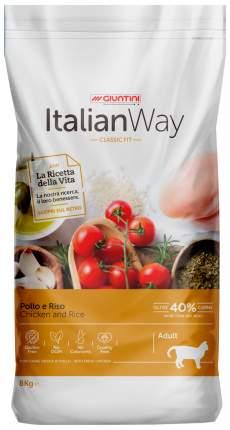 Сухой корм для кошек Italian Way Adult, безглютеновый, с курицей и рисом, 8кг