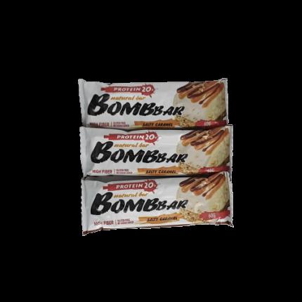 Батончик Bombbar Protein 3 60 г, 3 шт., соленая карамель