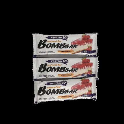 Батончик Bombbar Protein 3 60 г, 3 шт., малиновый чизкейк