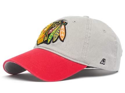 Бейсболка Atributika&Club NHL Chicago Blackhawks серая