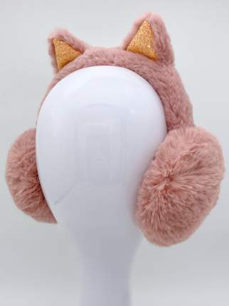 Наушники утепленные МихиМихи MM08577 Кошечка с блестками пудровые