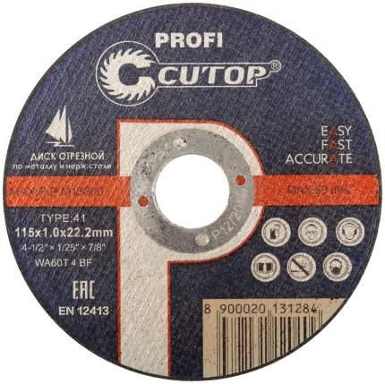 Диск отрезной по металлу и нержавеющей стали Cutop Profi 115х1,2мм 39981т