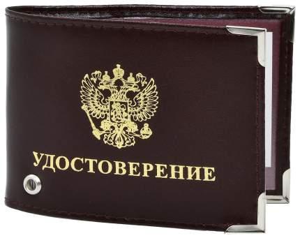 """Обложка для удостоверения с экраном """"Удостоверение"""" Mashinokom ODD400 бордовая"""