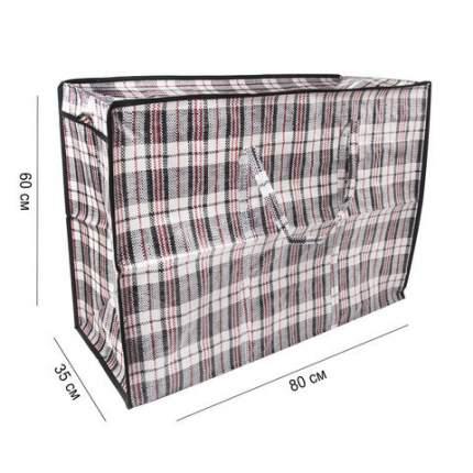 Сумка-баул хозяйственная, полипропилен, 80х60х35 см,168 литров, ЛЮБАША, 604704