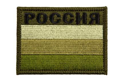 """Патч TeamZlo """"Флаг Россия с надписью"""" OD (TZ0097OD)"""
