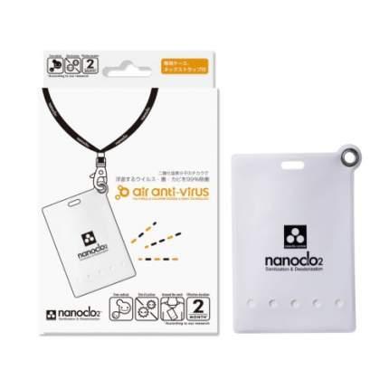 Блокатор вирусов NANOCLO2 для индивидуальной защиты 2 месяца карта с чехлом белый 1 шт.