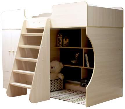 Кровать-чердак Капризун Р445 со шкафом дуб млечный