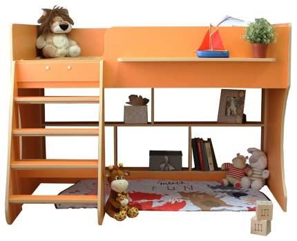 Детская кровать чердак Капризун Р436-оранжевый