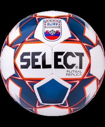 Select Мяч футзальный Replica АМФР, бел/син/красный - 4