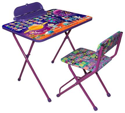 Комплект детской мебели Galaxy Стол с пеналом и стул фиолетовый