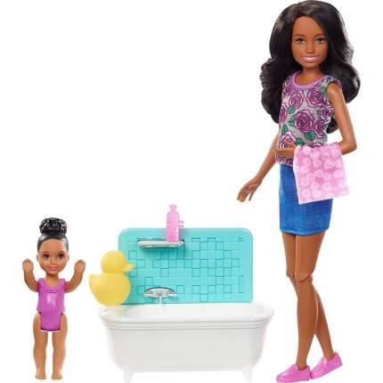 Игровой набор Barbie с куклой Няня брюнетка FHY97/FXH06