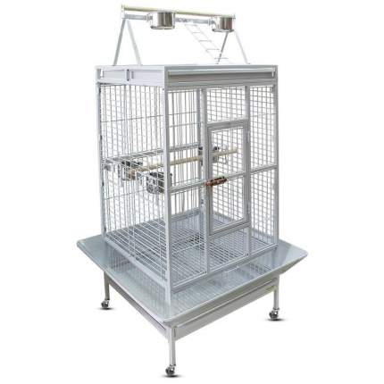 Клетка для птиц Triol Клетка-вольер для крупных птиц BC23, 123х103х203 см, белая