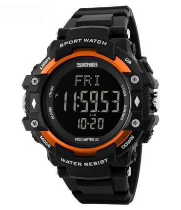 Часы с шагомером и пульсометром SKMEI 1180 - Оранжевые