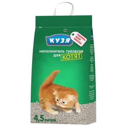 Впитывающий наполнитель для котят Кузя бентонитовый, 2.8 кг, 4.5 л