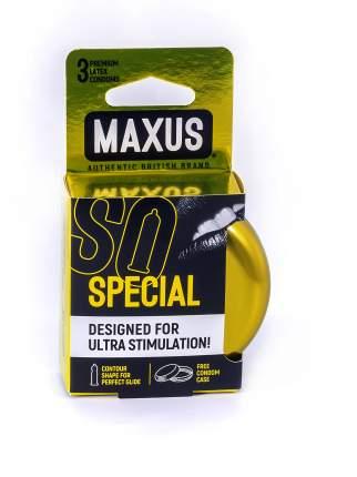 Презервативы Maxus Special в железном кейсе точечно-ребристые 3 шт.