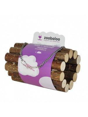 Тоннель для грызунов Zoobaloo из орешника на цепи, 10х10х18 см