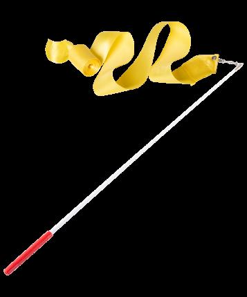Amely Лента для художественной гимнастики AGR-301 4м, с палочкой 46 см, желтый
