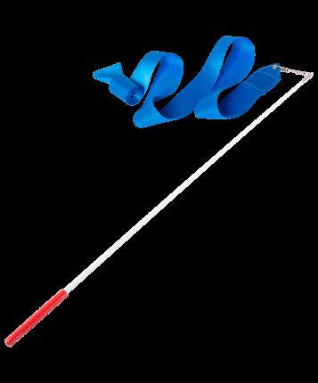 Amely Лента для художественной гимнастики AGR-301 4м, с палочкой 46 см, голубой